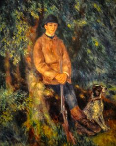 Pierre Auguste Renoir - Portrait of Alfred Berard with His Dog, 1881 at the Museum of Art Philadelphia PA
