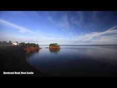 Bay of Fundy Video showing high and low tides
