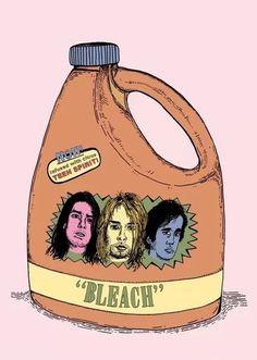 Nirvana Bleach☀️my fave album! Nirvana Art, Nirvana Kurt Cobain, Nirvana Quotes, Nirvana Logo, Kurt Cobain Photos, Donald Cobain, Music Memes, Foo Fighters, Band Posters