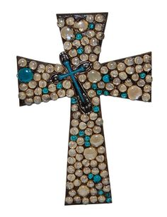 I like the off-center smaller cross Mosaic Crosses, Wooden Crosses, Crosses Decor, Wall Crosses, Mosaic Diy, Mosaic Crafts, Mosaic Projects, Crafts To Sell, Diy And Crafts