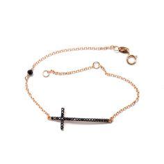 Βραχιόλι σταυρός ροζ χρυσό  Κ14  8521 Jewels, Bracelets, Gold, Jewerly, Bracelet, Gemstones, Fine Jewelry, Gem, Arm Bracelets