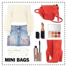 """""""#MiniBags"""" by lucia-correa ❤ liked on Polyvore featuring Loewe, Racine Carrée, MANGO, Valentino, Benefit and Chloé"""