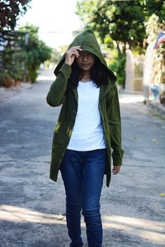 Olive green long t shirt hoodie jacket long sleeve assassin's creed inspired