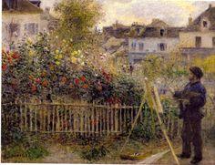 Claude Monet Painting in His Garden at Argenteuil, 1873 by Pierre-Auguste Renoir