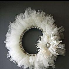Tulle wreath - beautiful