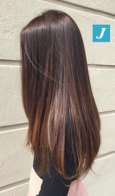 Long Hair Reveals A Healthy Glow Love Her Hair 2019 - Beauty/ful - Brown Hair Balayage, Brown Ombre Hair, Ombre Hair Color, Hair Highlights, Highlights For Straight Hair, Balayage Straight, Color Streaks, Hair Color Caramel, Long Brown Hair