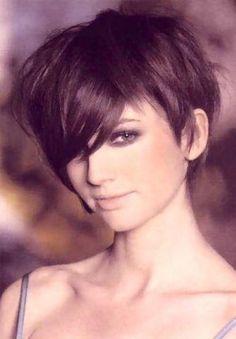 Short feminine hair