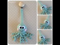 Como hacer un sujeta chupete de ganchillo | Crochet pacifier clip - YouTube