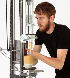 Daniel de Bruin working with a hand-held 3D printer to reclaim ownership of his art | Netherlands