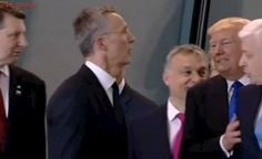 «América primero», el empujón de Trump al dirigente de Montenegro para estar en primera fila