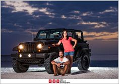 Jeep wedding pictures | Marco Island Engagement | Jenna + Nick | Florida Engagement ...