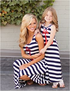 Children Mother Stripe Girls Dress Mother Daughter Leggings Summer Dress Clothes Family Mother And Daughter Matching Outfits