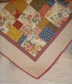 Country Cottage Patchwork Quilt Lap Size by paintedquilts on Etsy, $179.00