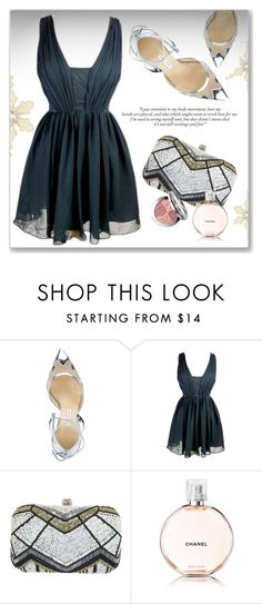 """""""Glam Up"""" by luvsassyselfie ❤ liked on Polyvore featuring Bionda Castana, Miss Selfridge, Chanel and Christian Dior"""