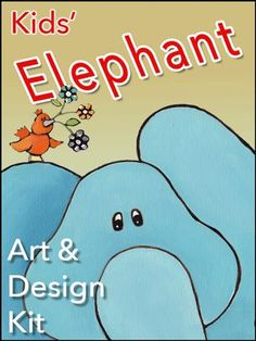 Elephant Art and Design Kit Craft Kits For Kids, Crafts For Boys, Art For Kids, Crow Art, Elephant Art, Diy Wall Art, Kids Room, Children, Design