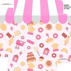 Caixa Bombom Base Festa Confeitaria - Fazendo a Nossa Festa Candyland, Birthday Party Themes, Paper Crafts, Packaging, Base, Scrap, Logo, Wallpaper, Cake Illustration