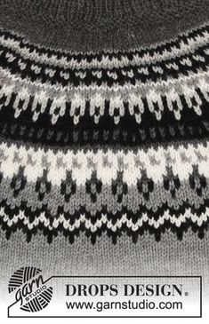 Dalvik / DROPS - Free knitting patterns by DROPS Design Free knitting instructions Record of Knitting Wool rotating, weaving and sewing jobs such as BC. Fair Isle Knitting Patterns, Jumper Patterns, Sweater Knitting Patterns, Knitting Stitches, Free Knitting, Baby Knitting, Drops Design, Nordic Sweater, Ravelry