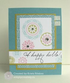 Simply Creating: CTMH Stamp-of-the-Month Blog Hop: A Happy Hello #PaperFundamentals #Whimsey