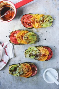 Basil Roasted Eggplant with Heirloom Balsamic Drizzle via With Food + Love