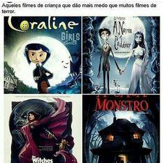 Coraline me traumatizou ; Funny Cartoons, Funny Comics, Wtf Funny, Funny Memes, Sao Memes, Funny Phrases, Creepy, Nostalgia, Nerd