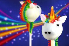 Unicorn cake pops!!