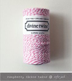 NEW COLOR  Raspberry Divine Twine  20 yards by sofiejack on Etsy, $2.00