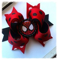 Spiderman boutique bow/ super hero bow/ marvel bow by natortiz23, $6.00
