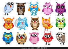 owl school theme | vector owls Vector Illustration - Download owl Royalty Free Clipart