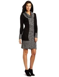 Tiana B Women's Color Blocked Sweater Dress