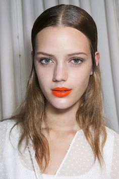 The Absolute Best Long-Lasting Lipsticks - Matte Orange lips, backstage beauty