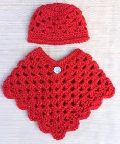 Crochet American Girl Doll Poncho & Hat Set, Doll Clothes, Handmade, Our Generation Doll Outfit, Crochet Doll Clothes, Crochet Dolls, Crochet Hats, Crochet Baby Poncho, Crochet Poncho Patterns, Drawstring Bag Diy, Girls Poncho, Mercerized Cotton Yarn, Knitting