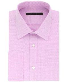 Sean John Men's Big and Tall Classic/Regular Fit Solid French Cuff Dress Shirt - Pink 17.5 37/38