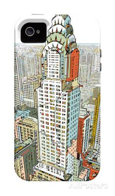 Manhattan iPhone 4/4S Case by HR-FM at AllPosters.com