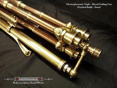 Steampunk Gatling Gun - Electroplasmatic Rotary Cannon 001
