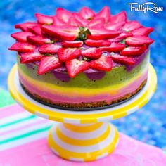 FullyRaw ~ FullyRawKristina ~ FullyRaw Rainbow Cake for My Birthday! See what I made to celebrate my 28th birthday! Raw vegan dessert made of fruit! I hope that you make it for your birthday too! YouTube RECIPE HERE: https://youtu.be/45OMzEbHFUw