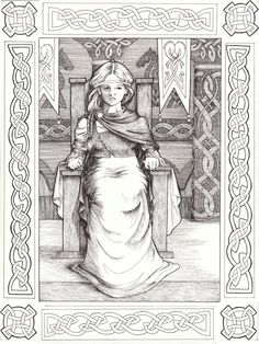 Frigg, Nose goddess of fertility. Wife of Odin, queen of Asgard, mother of Baldur.  Magical powers and could see the future. Closely allied to Freuja and may have shared her identity.