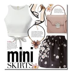 Mini Me: Cute Skirts by beebeely-look on Polyvore featuring RED Valentino, Alexander McQueen, Flowers, floralprint, MINISKIRT, sammydress and RedValentino