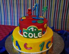 elmo first birthday cake