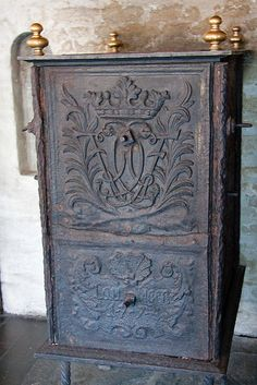 Relics, Sculpture, Motifs for the Home: antique ornate mail box - Decor Object
