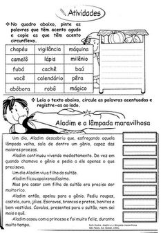 .   Língua Portuguesa - Gramática/Ortografia  Sílaba Tônica - Acentuação            Cruzadas            Caça-Palavras                  Caça-...