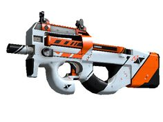 Buy a P90 Asiimov CSGO Steam Skin on SkinXchange. Exterior: Minimal Wear Easily recognizable for its unique bullpup design, the P90 a great weapon to shoot on the move due to its high-capacity magazine and low recoil. It has been custom painted with a sci-fi design. Anyone can predict the future... a visionary shapes it The Breakout Collection