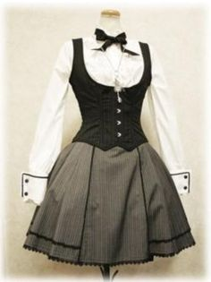 I found 'Gothic Lolita School Uniform' on Wish, check it out! I found 'Gothic Lolita School Uniform' on Wish, check it out! Style Lolita, Gothic Lolita Fashion, Steampunk Fashion, Gothic Steampunk, Steampunk Clothing, Victorian Gothic, Pretty Dresses, Beautiful Dresses, Mode Geek