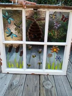 """""""Spring Fling"""" Fused Glass Window by GFam 2013 Glass Wall Art, Fused Glass Art, Stained Glass Art, Stained Glass Windows, Mosaic Windows, Mosaic Art, Mosaic Glass, Mosaics, Painted Window Frames"""