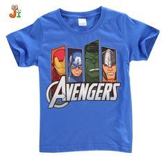 2016 summer kids clothing for boys t shirt hulk avengers hulk short sleeve t-shirt boys clothes children t shirts child tops