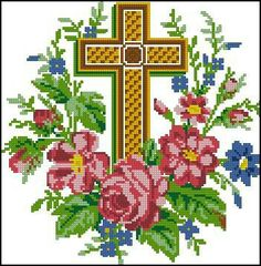 This bright and colourful pattern was published in «The Illustrated Household Journal Cross Stitch Tree, Cross Stitch Bookmarks, Cross Stitch Borders, Cross Stitch Flowers, Cross Stitch Designs, Cross Stitch Patterns, Hardanger Embroidery, Cross Stitch Embroidery, Bargello Patterns