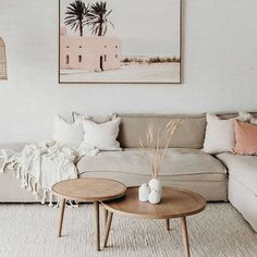 Beige And Grey Living Room, Coral Living Rooms, Interior Design Living Room, Living Room Designs, Deco Pastel, Coffee Table Inspiration, Estilo Interior, Hygge, Decor Styles