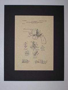 Caldwell Safety Mechanism for Double Action Firearms 1900 Patent drawing HistoricPatentArt.com Gun