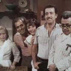 Mahuanpi Acosta,Carlos Olivier,Loly Sanchez,Carlos Villamizar y Tomas Enriquez en una foto realizada en RCTV en los años 80s