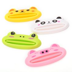 New Cartoon Frog/AnimalCat/Frog/Panda/Pig Toothpaste Tube Squeezer Easy Squeeze Paste Dispenser Roll Holder #Affiliate