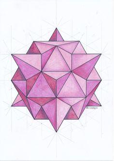 Solid Geometry, Geometry Art, Sacred Geometry, Op Art, Geometric Designs, Geometric Shapes, Geometric Construction, Graph Paper Art, Geometric Drawing